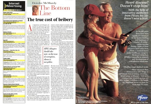 Article Preview: The true cost of bribery, November 1997 | Maclean's