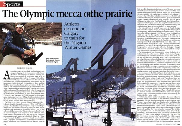 Article Preview: The Olympic mecca on the prairie, November 1997 | Maclean's