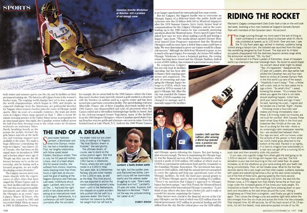 Article Preview: THE END OF A DREAM, November 1997 | Maclean's