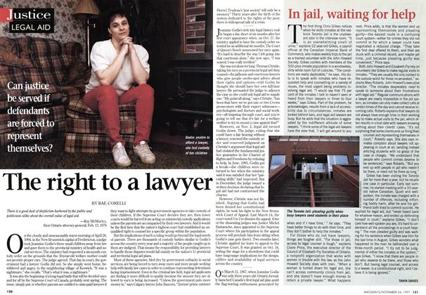 Article Preview: The right to a lawyer, November 1997 | Maclean's