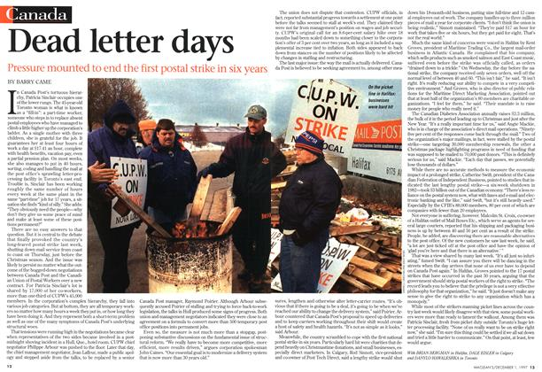 Article Preview: Dead letter days, December 1997 | Maclean's