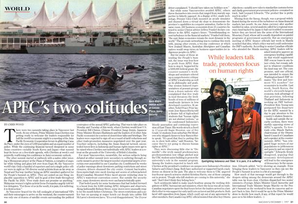 Article Preview: APEC's two soltitudes, December 1997 | Maclean's