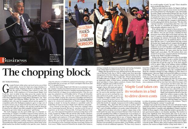 Article Preview: The chopping block, December 1997 | Maclean's