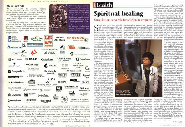 Article Preview: Spiritual healing, December 1997   Maclean's