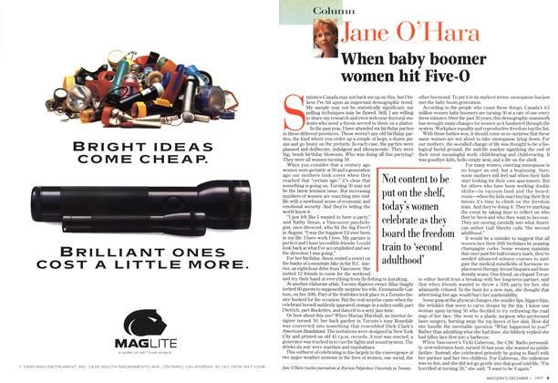 Article Preview: When baby boomer women hit Five-0, December 1997 | Maclean's