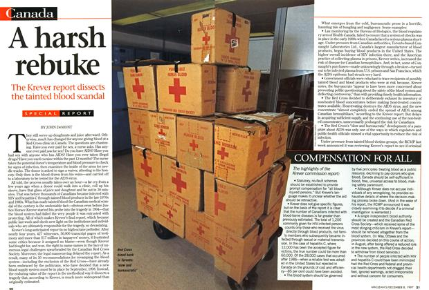 Article Preview: A harsh rebuke, December 1997 | Maclean's