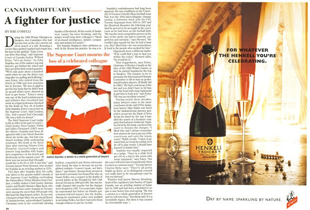 Article Preview: A fighter for justice, December 1997 | Maclean's