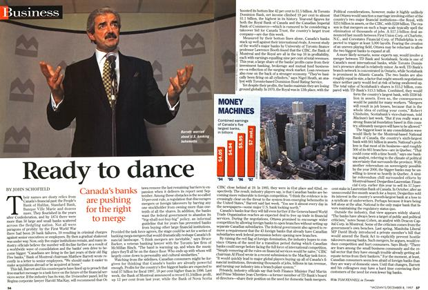Article Preview: Ready to dance, December 1997 | Maclean's