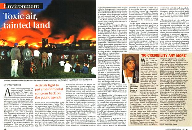 Article Preview: Toxic air, tainted land, December 1997 | Maclean's