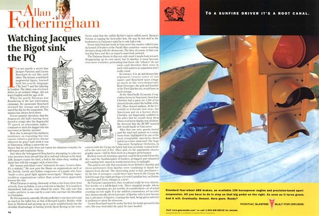 Article Preview: Watching Jacques the Bigot sink the PQ, December 1997 | Maclean's
