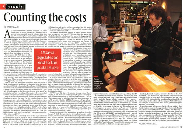 Article Preview: Counting the costs, December 1997 | Maclean's