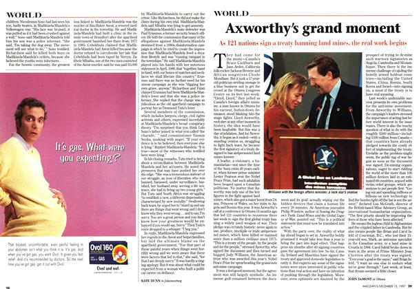 Article Preview: Axworthy's grand moment, December 1997 | Maclean's