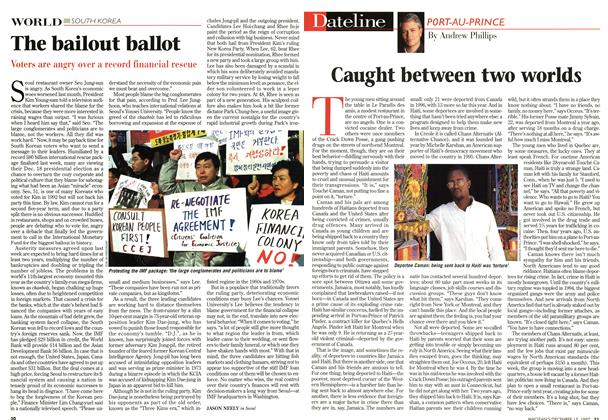 Article Preview: Caught between two worlds, December 1997 | Maclean's