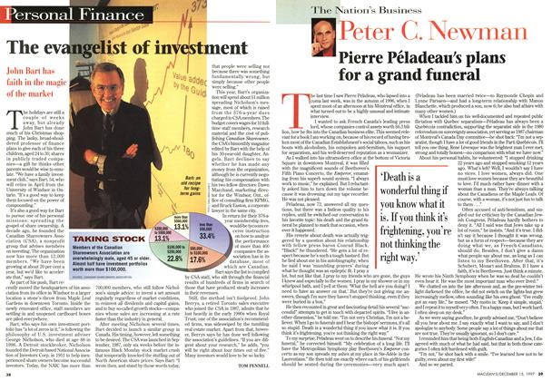 Article Preview: The evangelist of investment, December 1997 | Maclean's