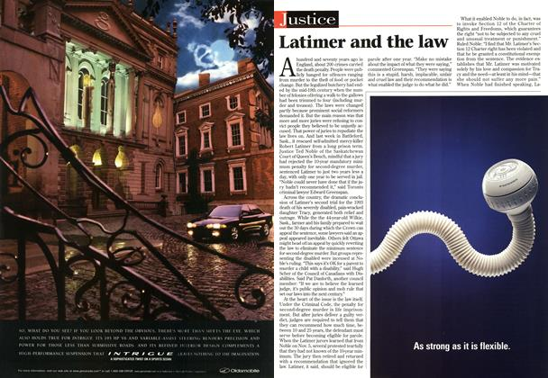 Article Preview: Latimer and the law, December 1997 | Maclean's