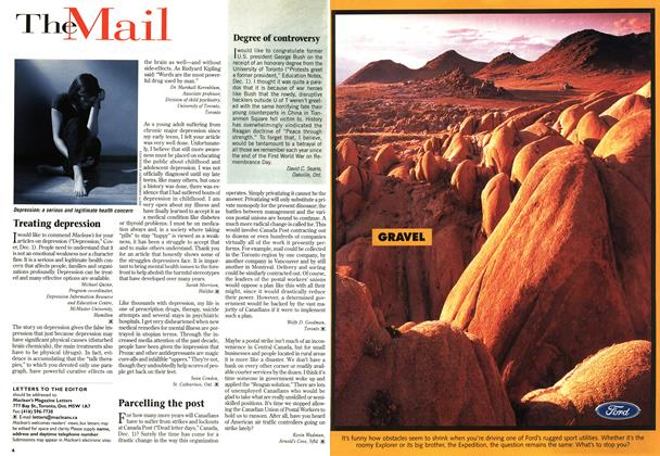 Article Preview: The Mail, December 1997 | Maclean's