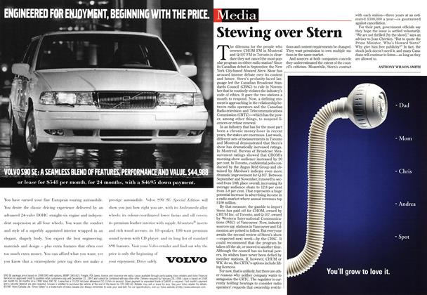 Article Preview: Stewing over Stern, December 1997 | Maclean's