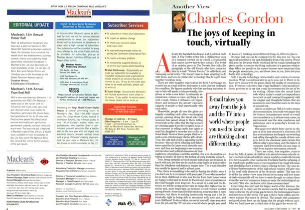 Article Preview: Charles Gordon, December 1997 | Maclean's