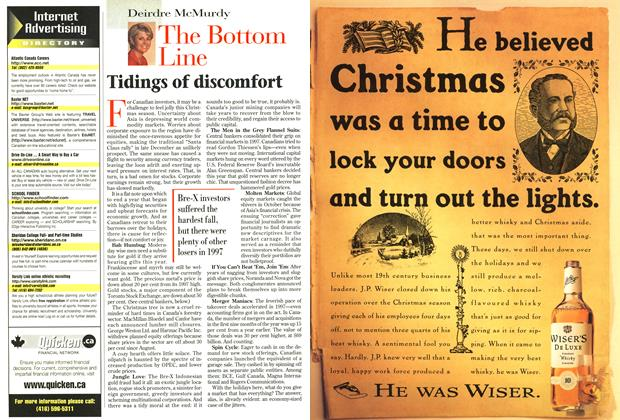 Article Preview: Tidings of discomfort, December 1997 | Maclean's