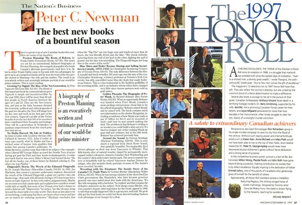 Article Preview: The best new books of a bountiful season, December 1997 | Maclean's