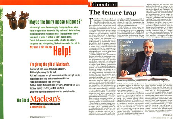 Article Preview: The tenure trap, December 1997 | Maclean's