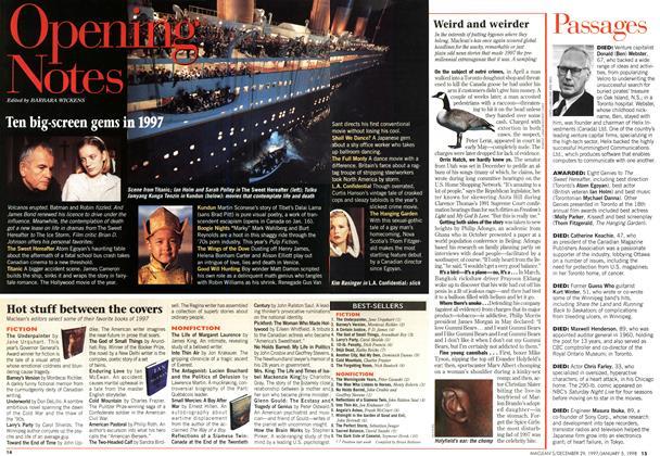 Article Preview: Ten big-screen gems in 1997, DECEMBER 29, 1997 / JANUARY 5,1998 1997 | Maclean's