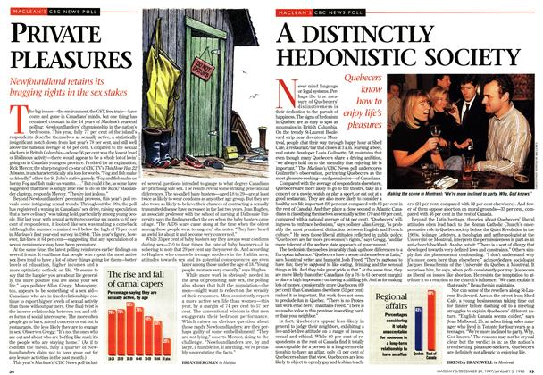 Article Preview: A DISTINCTLY HEDONISTIC SOCIETY, DECEMBER 29, 1997 / JANUARY 5,1998 1997 | Maclean's