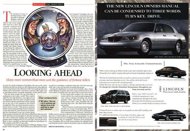 Article Preview: LOOKING AHEAD, DECEMBER 29, 1997 / JANUARY 5,1998 1997 | Maclean's