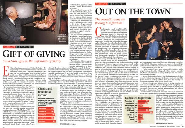 Article Preview: OUT ON THE TOWN, DECEMBER 29, 1997 / JANUARY 5,1998 1997 | Maclean's