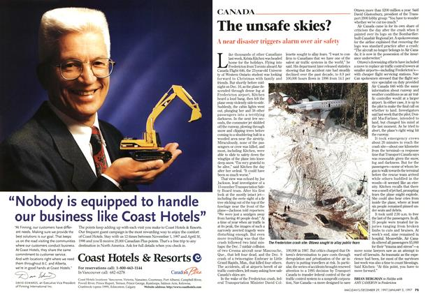Article Preview: The unsafe skies?, DECEMBER 29, 1997 / JANUARY 5,1998 1997 | Maclean's