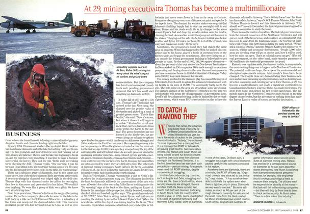 Article Preview: TO CATCH A DIAMOND THIEF, DECEMBER 29, 1997 / JANUARY 5,1998 1997 | Maclean's