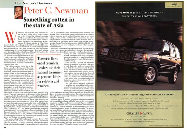 Article Preview: Something rotten in the state of Asia, DECEMBER 29, 1997 / JANUARY 5,1998 1997 | Maclean's