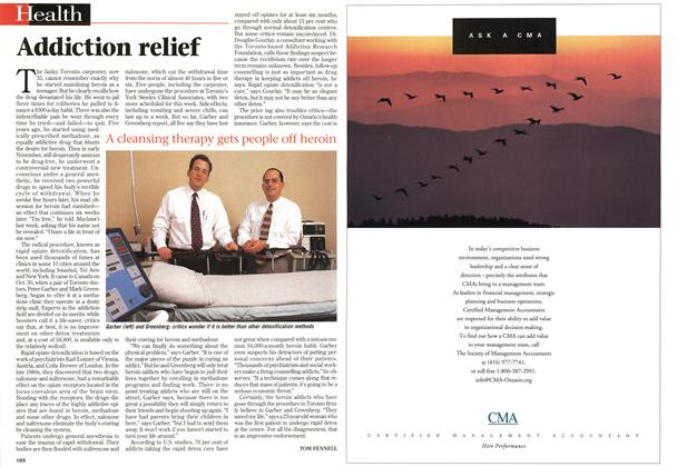 Article Preview: Addiction relief, DECEMBER 29, 1997 / JANUARY 5,1998 1997 | Maclean's