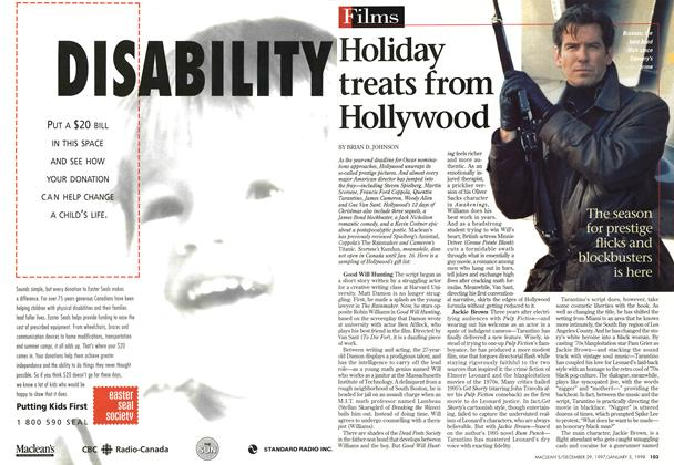 Article Preview: Holiday treats from Hollywood, DECEMBER 29, 1997 / JANUARY 5,1998 1997 | Maclean's