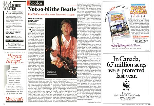 Article Preview: Not-so -blithe Beatle, DECEMBER 29, 1997 / JANUARY 5,1998 1997 | Maclean's