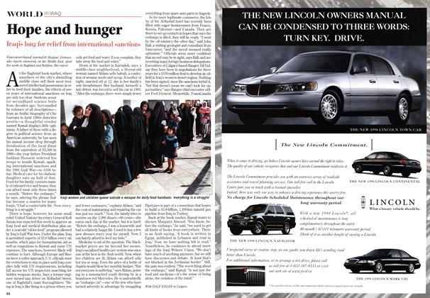 Article Preview: Hope and hunger, January 1998 | Maclean's