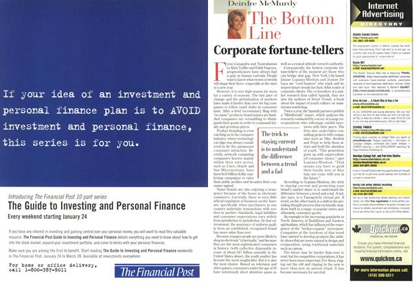 Article Preview: Corporate fortune-tellers, January 1998 | Maclean's