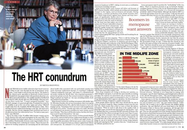 Article Preview: The HRT conundrum, January 1998 | Maclean's