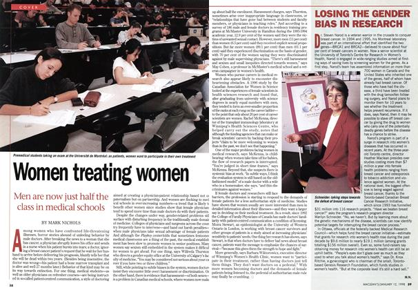 Article Preview: Women treating women, January 1998 | Maclean's