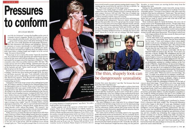 Article Preview: Pressures to conform, January 1998 | Maclean's