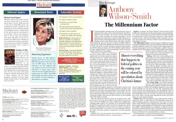 Article Preview: The Millennium Factor, January 1998 | Maclean's