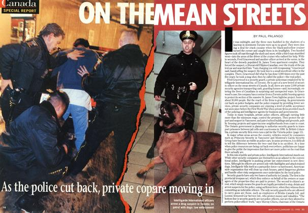 Article Preview: ON THE MEAN STREETS, January 1998 | Maclean's
