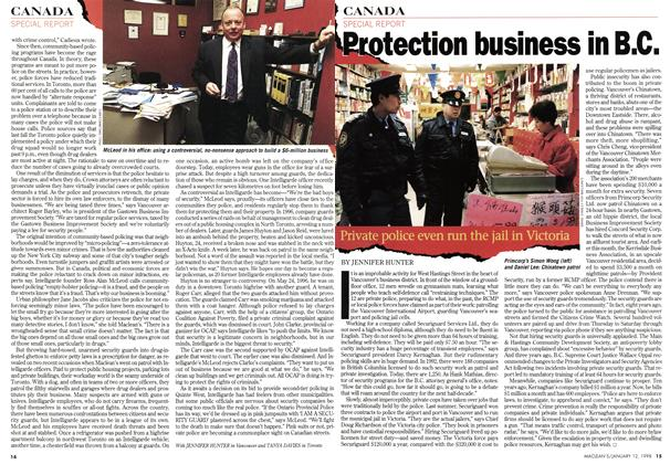 Article Preview: Protection business in B.C., January 1998 | Maclean's