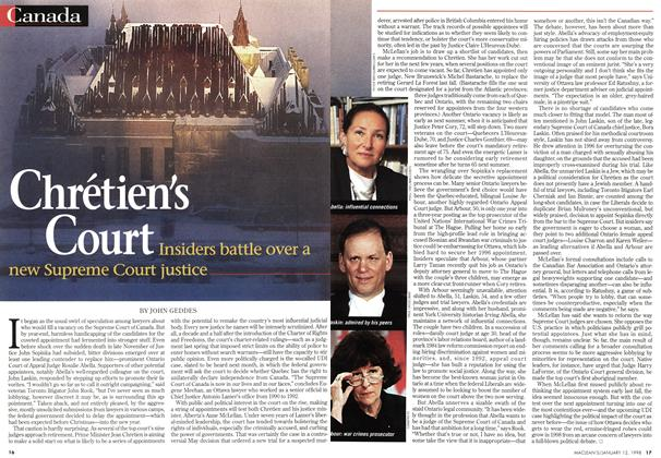Article Preview: Chrétien's Court, January 1998 | Maclean's