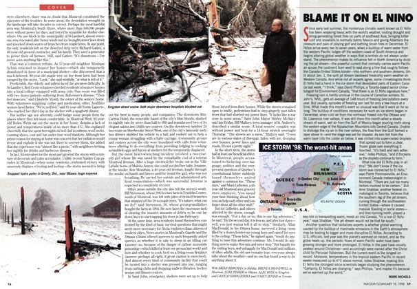 Article Preview: BLAME IT ON EL NINO, January 1998 | Maclean's