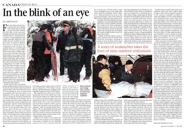 Article Preview: In the blink of an eye, January 1998 | Maclean's