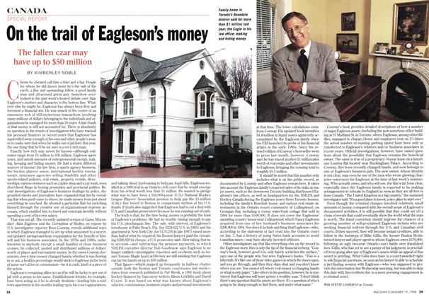 Article Preview: On the trail of Eagleson's money, January 1998 | Maclean's