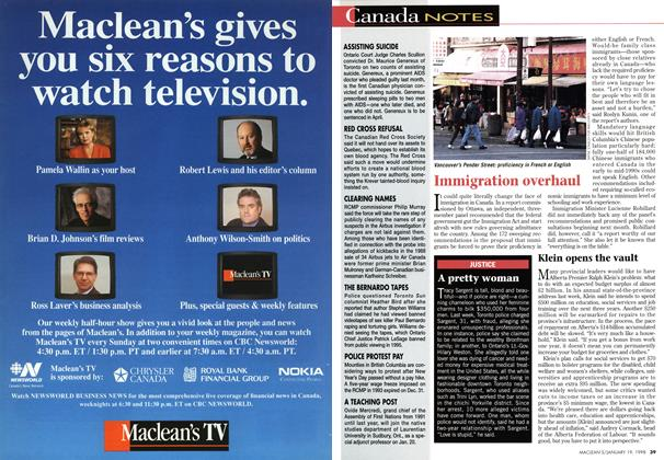 Article Preview: Canada NOTES, January 1998 | Maclean's