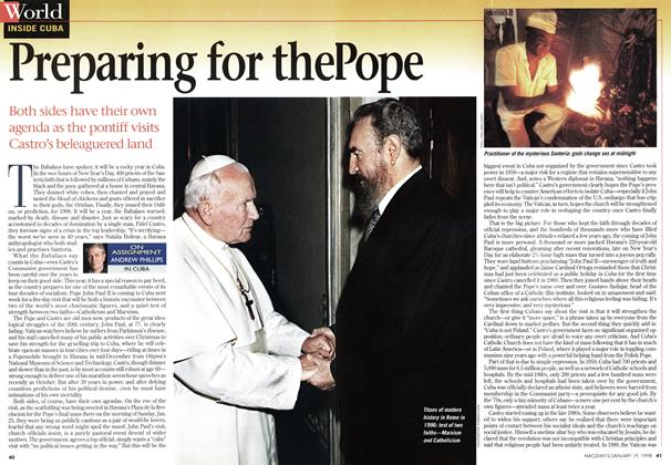 Article Preview: Preparing for the Pope, January 1998 | Maclean's