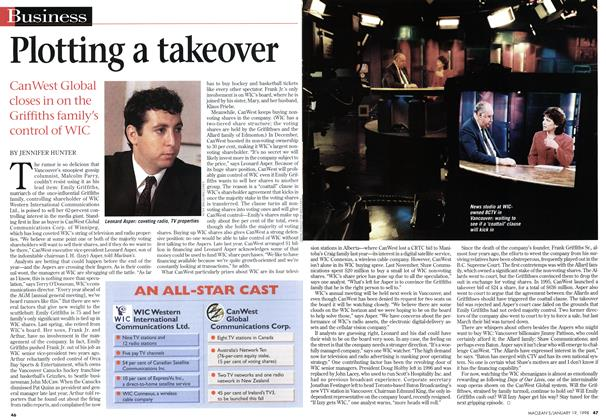Article Preview: Plotting a takeover, January 1998 | Maclean's